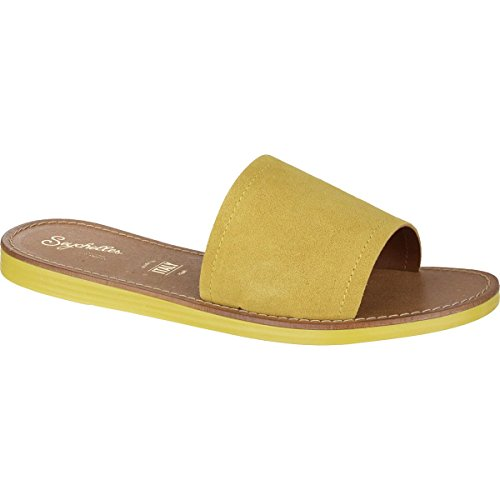 buy cheap amazon clearance order Seychelles Women's Leisure Slide Sandal Yellow Suede under $60 big discount cheap online lowest price cheap price QJvISmH3