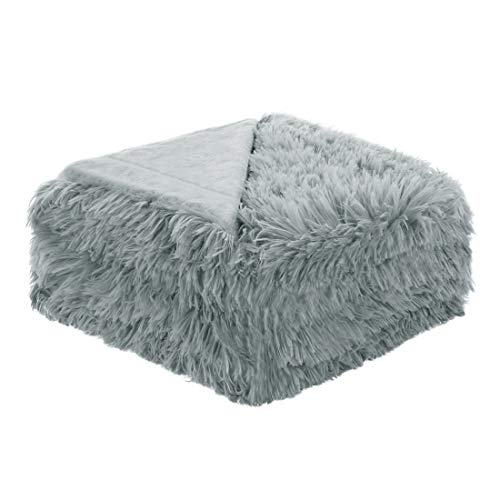 - uxcell Solid Faux Fur Throw Blanket 50