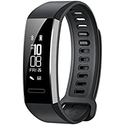 Huawei Band 2 Pro All-in-One Activity Tracker Smart Fitness Wristband | GPS | Multi-Sport Mode| Heart Rate | Sleep Monitor | 5ATM Waterproof, Black (US Warranty)