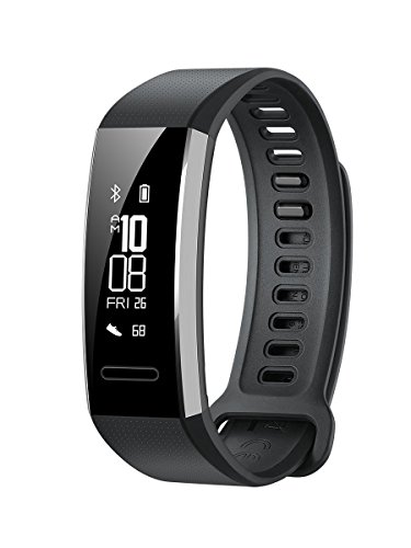 Huawei Band 2 Pro All-in-One Activity Tracker Smart Fitness Wristband | GPS | Multi-Sport Mode| Heart Rate | Sleep Monitor | 5ATM Waterproof, Black (US Warranty) by Huawei