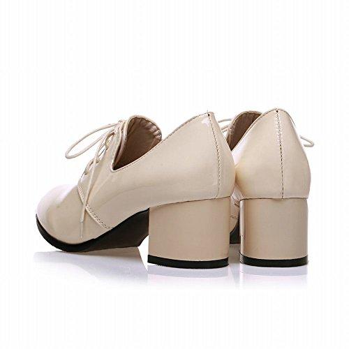 Scarpe Eleganti Oxford Con Tacco Medio E Tacco Medio In Pelle Martellata