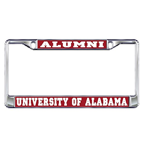 University of Alabama Alumni Crimson Tide Silver Metal License Plate Frame (Alabama Metal)
