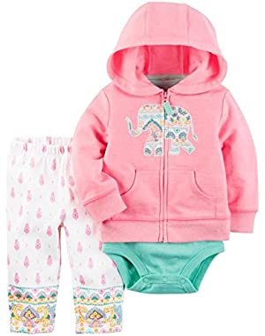 Carter's Baby Girls Cardigan Sets 121h257, Pink, 12M