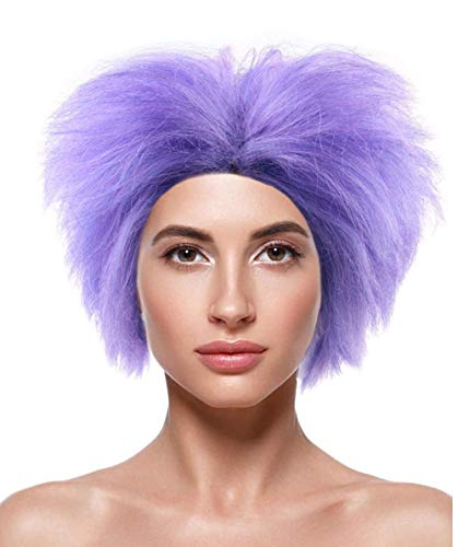 Wig for Cosplay Evil Minions Purple HW-140 ()