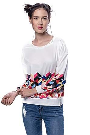 VS Fashions Multi Color Round Neck Hoodie & Sweatshirt For Women