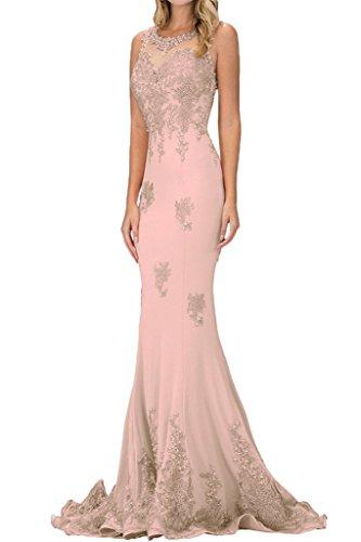 Applicazione Damen Lussuoso Rosa sera ivyd vestito Pizzo da Perle ressing feste abito lungo I5EBq
