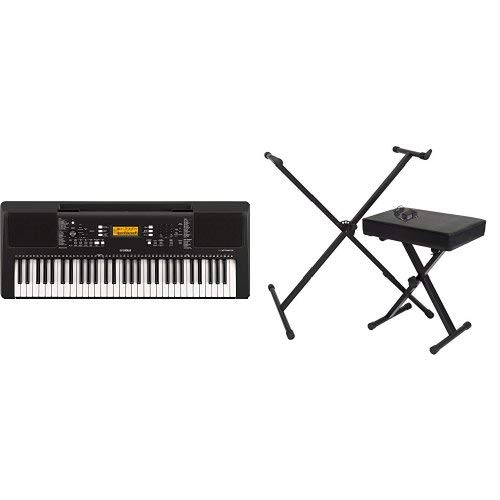 Yamaha PSR-E-363 61-Key Touch Sensitive Portable Keyboard with Stand, Bench and Power Supply