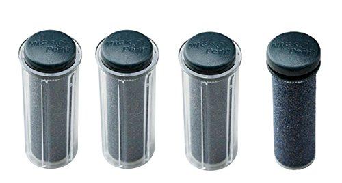 Emjoi Micro-Pedi Black Super-Coarse Refill Rollers/Set of 4 (Emjoi Micro Pedi Refill Rollers Extra Coarse)