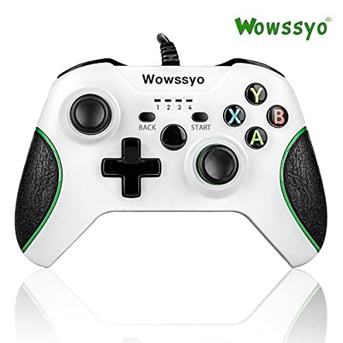 Xbox One Controller Wired, Wowssyo Xbox One Game Joysticks Xbox 1 Wired Controller with Audio Jack, Dual Vibration Feedback, Wired Gamepad for Xbox One S/One X/PS3, Windows 7/8/10