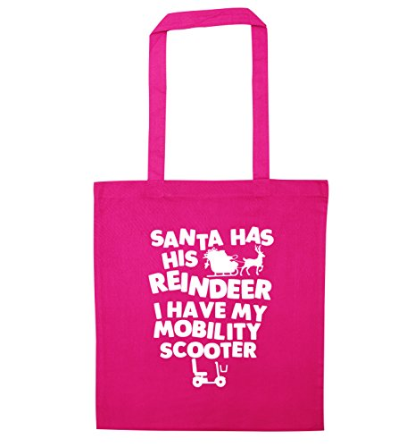 Pink bag my have his Santa scooter I reindeer Creative tote has mobility Flox CwXzRq7