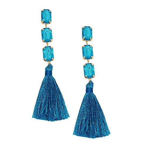 ohemian LongTassel Dangle Earrings Drop Tiered Thread Statement Earrings Women Girls Chandelier Filigree Charm Ethnic Fringe Statement Tribal Soriee Fashion Lady Earring ()