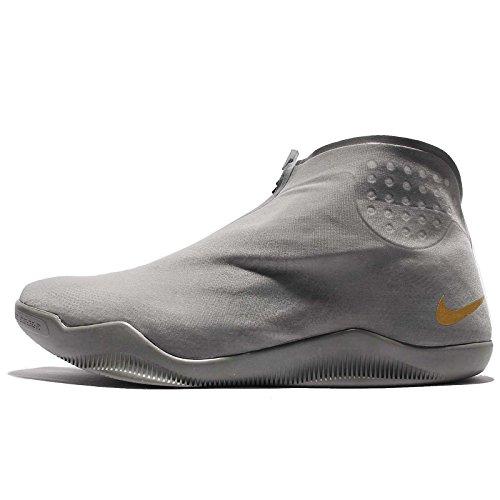 Nike Men's Kobe XI ALT, TUMBLED GREY/METALLIC GOLD, 12 M US