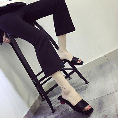 LFNLYX Zapatillas de mujer & Flip-Flops Primavera Verano Otoño PU Confort Casual tacón bajo otros Negro Gris Otros Gray