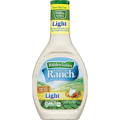 Hidden Valley Original Ranch Light Salad Dressing & Topping, Gluten Free - 16 Ounce (Light Pasta)
