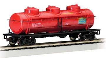 - Bachmann Trains Pennsalt Chemical (Red) 40' Three-Dome Tank Car