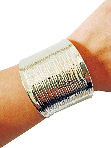 Fitbit Bracelet for Fitbit Flex - The GABRIELLA Etched Cuff Fitbit Bracelet (Silver)