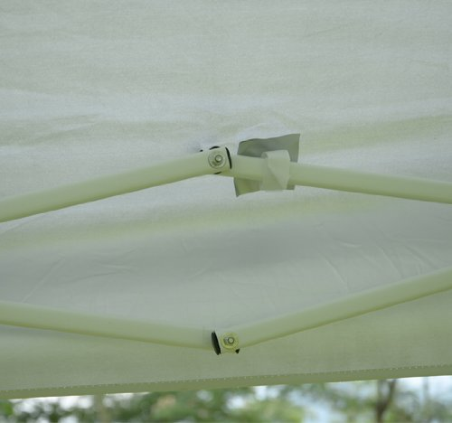Outsunny Slant Leg Easy Pop-Up Canopy Party Tent, 10 x 10-Feet, White