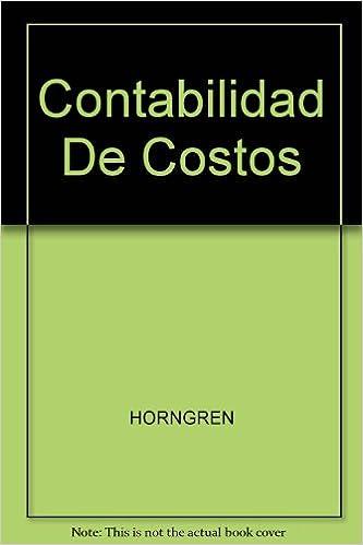 Contabilidad De Costos Libros