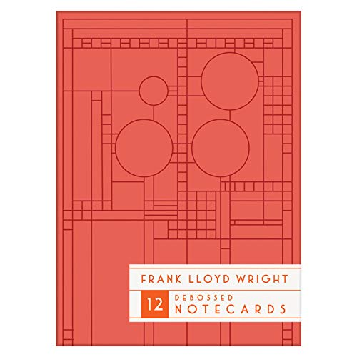 Frank Lloyd Wright Bright Geometric Debossed Notecards by Galison 2017