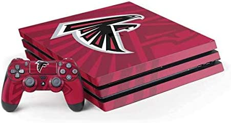 Skinit Decal Gaming Skin Compatible with PS4 Pro Console and Controller Bundle - Officially Licensed NFL Atlanta Falcons Double Vision Design