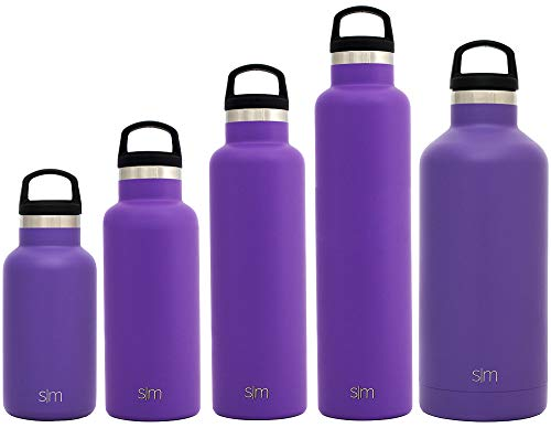 Simple Modern 32oz Ascent Water Bottle - Stainless Steel Hydro Swell Flask w/Handle Lid - Metal Double Wall Vacuum Insulated Purple Reusable Tumbler Aluminum 1 Liter Cold Leak Proof - Lilac -  ASC-32-LP