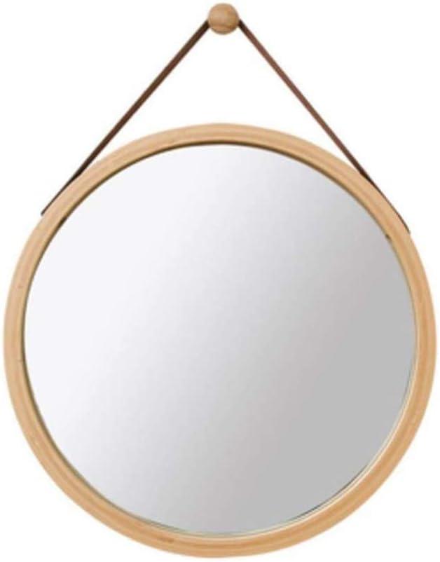 LLRYN Espejo Colgante Montaje de Media Longitud Maquillaje HD Baño Diámetro 38cm Blanco/Natural/Negro Lavado (Color : A)