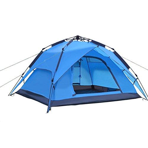 ダニでる崇拝しますアウトドアテントキャンプツーリズムクイックオープン二重反暴雨スピードは3-4人用に自動的に開き、仕様:230X193x145cm