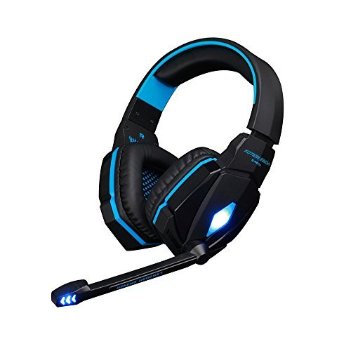 Stereo 3.5mm Plug Gaming Headband Headphone HiFi Headset with Mic Volume Control for PC Game