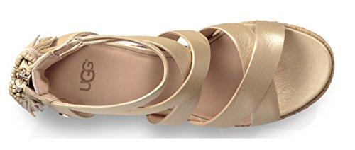 Ugg Vrouwen - Wedge-sandalette Raquel 1092254 Zachte Gouden Zacht Goud