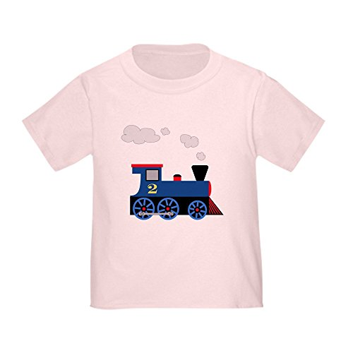 2 Steam Locomotive Number (CafePress - Blue Train Number 2 - Cute Toddler T-Shirt, 100% Cotton)