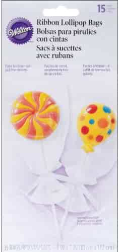 Wilton Drawstring Lollipop Bags, 4.5