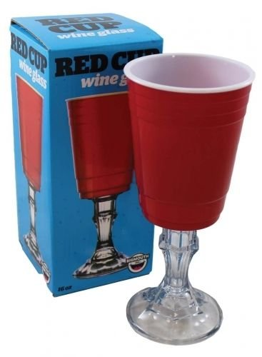 Novelty Red Cup Wine Glass Stem Ware