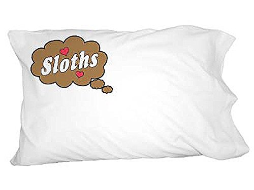 Graphics And More Dreaming Of Sloths - Brown Novelty Bedding Pillowcase Pillow Case -