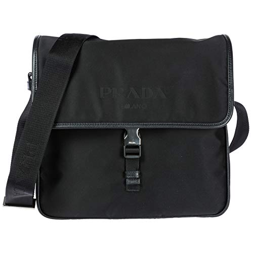 Nylon Flap Shoulder Bag Black ()