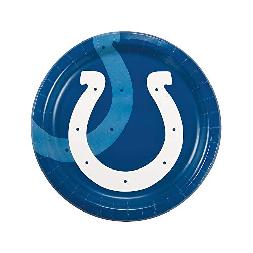 Fun Express - Nfl Indianapolis Colts Dinner Plates for Party - Party Supplies - Licensed Tableware - Licensed Plates & Bowls - Party - 8 Pieces