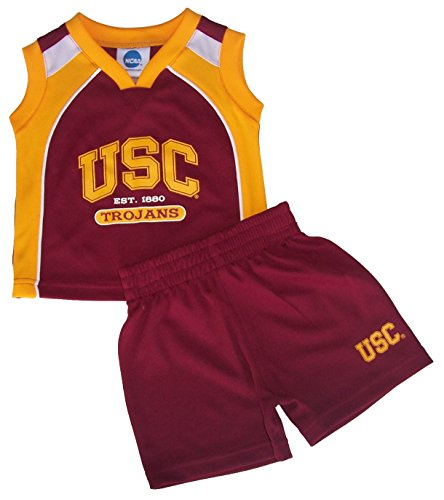 Usc Trojans Shorts - USC Trojans 12 Months Shorts & Sleeveless Shirt Set - New with Tags Infant Toddler Team Colors