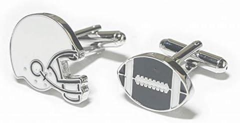 鎌倉カフス工房 アメリカンフットボールヘルメット・ボールカフスボタン cf2218
