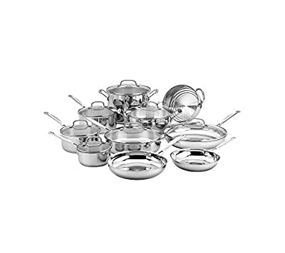 Cuisinart Chef's Classic Stainless 17-Pc. Cookware Set