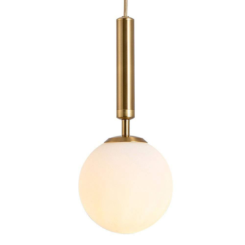 CSDM.AI Moderner Kronleuchter, Loft-Industriestile einfache Mini-Rund-Kronleuchter Messingfarbe Pendant Leuchten für Schlafzimmer Nachttischlampen,D25CM