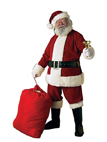 Rubie's Adult Deluxe Ultra Velvet Santa Suit With Gloves, -