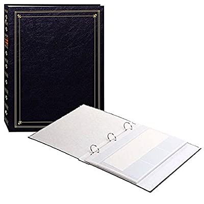 BI-DIRECTIONAL 3-ring BLACK album with memo area -