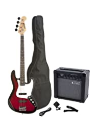Fever 4-String Electric Jazz Bass Style with 20-Watts Amplifi...