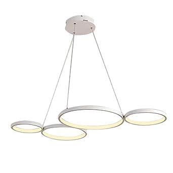 colgante Diseño LED 4 Circular Redondo Iluminación Lámpara 3R4AjLq5