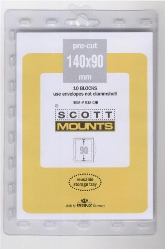 Scott or Prinz 140X90 CLEAR Stamp Mounts SCOTT # - Stamp Clear Mounts