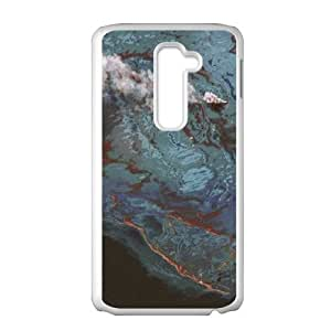LG G2 Cell Phone Case White Satellite Imagery and Topographic Maps S7B7AH
