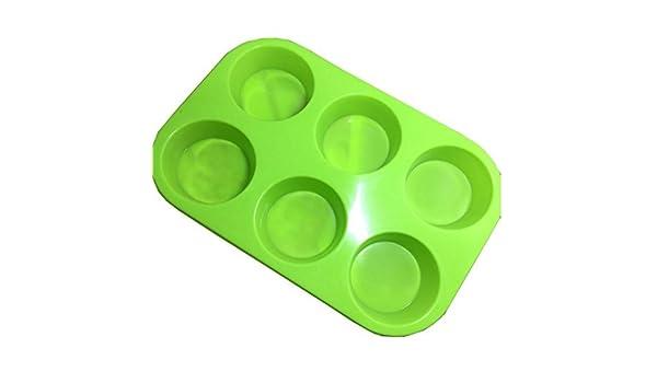 Molde de silicona con forma de cilindro para tartas Dylandy, hecho a mano, jabón, fondant, galletas, gelatina, manualidades, horneado, 6 moldes para tartas: ...
