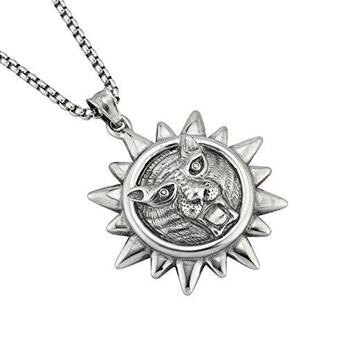 0be69b0a4444 MCSAYS - Collar con colgante de cabeza de león con forma de sol y cadera