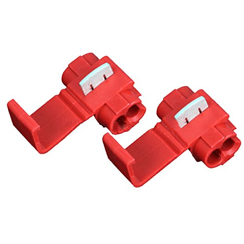 100PCS Red Scotch Lock Quick Splice 22-18 AWG Wire Connector 801P3 Ogry