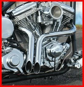 ACCESSORIESHD - 2 Inch CHROME LAF Ground Shakers Exhaust for Harley-Davidson Sportsters, Baggers,Softails and Customs