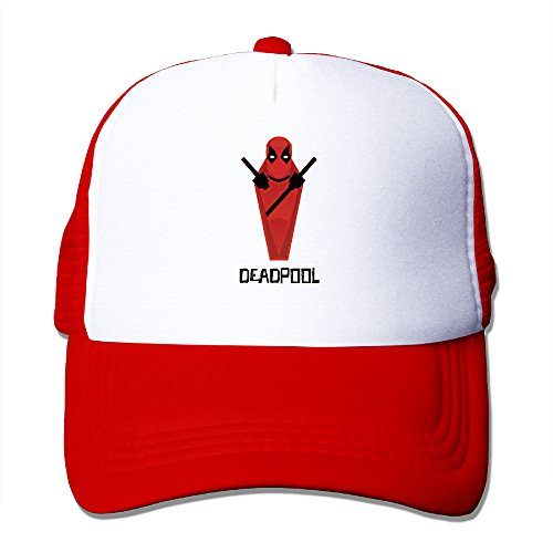 [ACMIRAN Dead 2 Pool Adjustable Hat One Size Red] (Sims Costume Male)